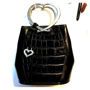 Brighton mini bag with heart shaped metal handle